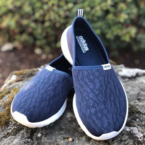 Adidas memory foam lite racer slip on shoes 8